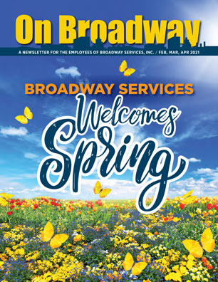 Broadway Services, Inc.   Spring 2021 ON BROADWAY Cover