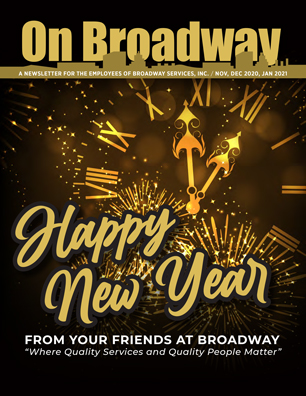 Broadway Services, Inc.   Winter 2021 ON BROADWAY Cover