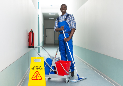 Broadway Services, Inc. | Janitorial Services | Cleaning Hallway