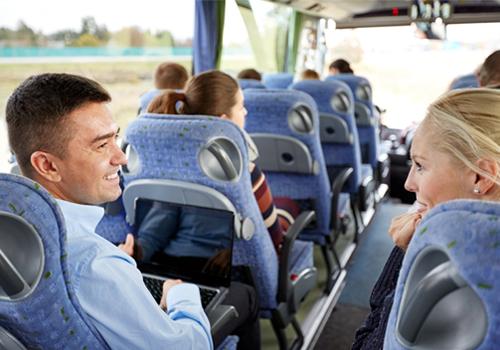 Broadway Services, Inc. | Shuttle Services | Shuttle Bus Passengers